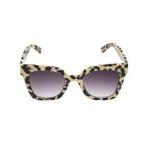 Betsey Johnson Tortoise Leopard Square Sunglasses